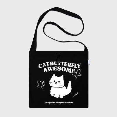 Awesome cat-black(스트링에코백)