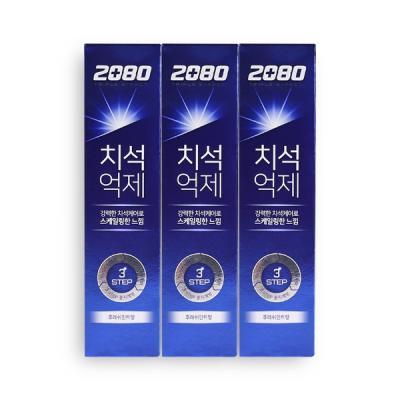 2080 강력한 치석케어 치석억제치약 후레쉬민트향 3ea