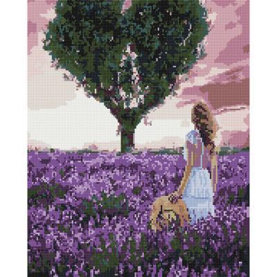 라벤더 여인 (캔버스형) 보석십자수 40x50