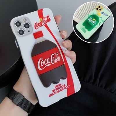 아이폰se2 11pro max xs 8 입체 음료수 실리콘 케이스