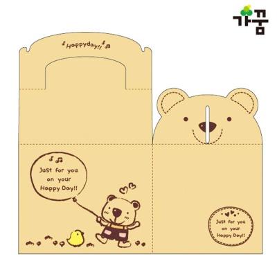 가꿈 팬시 포장박스 곰돌이 (4개입) (NO.508)