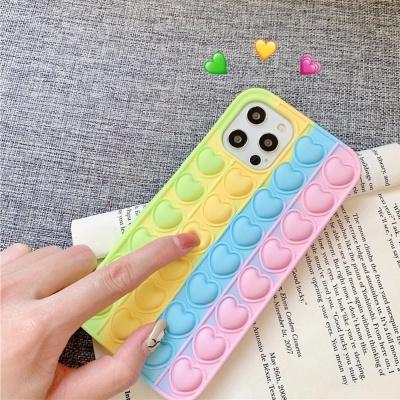 아이폰SE2 8 7플러스 파스텔 하트 푸쉬팝 팝잇 케이스