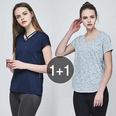 여성 운동복 티셔츠 TS7076 X TS7093 1+1 세트