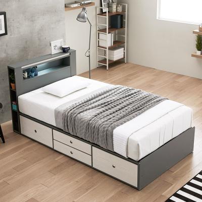 [노하우] 누아르 LED 4단 서랍형 슈퍼싱글 침대