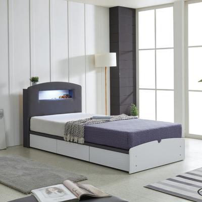 리트로 통서랍 LED 메모리 SS 침대(매트리스미포함)