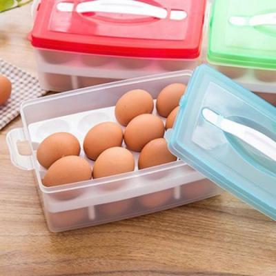 간편 손잡이 2칸 계란보관함 1개(색상랜덤)