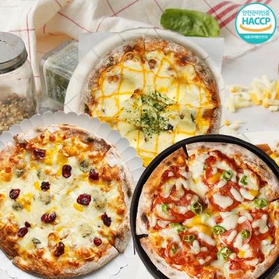 치즈피자+페페로니 피자+고르곤베리 피자