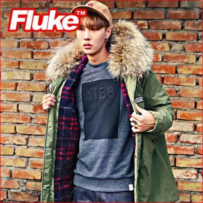 [플루크 패딩] 리얼라쿤 에스파놀라 야상 패딩 점퍼 카키 FPJ1523-KHAKI FLUKE 15FW