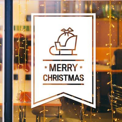 제제데코 크리스마스 눈꽃 스티커 장식 CMS4J140