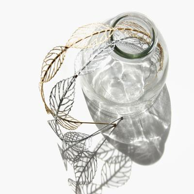 제이로렌 H0150 나뭇잎 메탈 브라스 헤어밴드