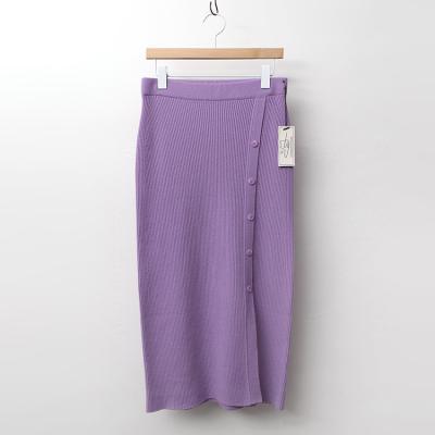 Strick Wool Slit Long Skirt