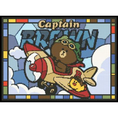 라인프렌즈 캡틴 브라운 보석십자수 TPD38-401