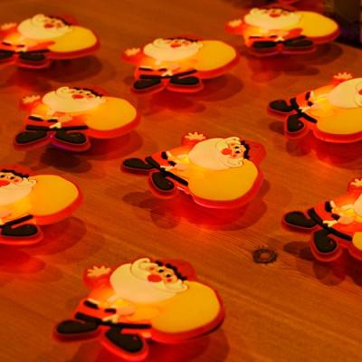 LED 플래시라이트 뱃지 (자루든산타) 15개한팩