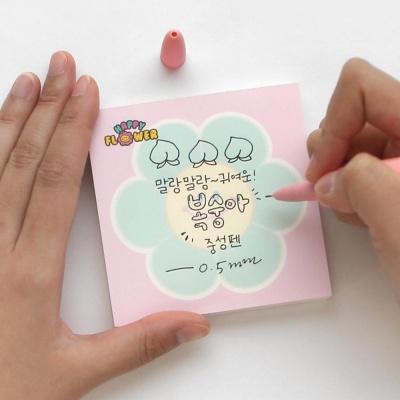 핑크풋 3000복숭아스퀴시중성펜(0.5mm)