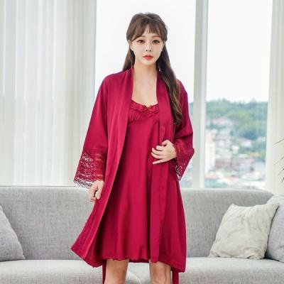 [쿠비카]샤틴 앙상블 원피스 여성잠옷 W507
