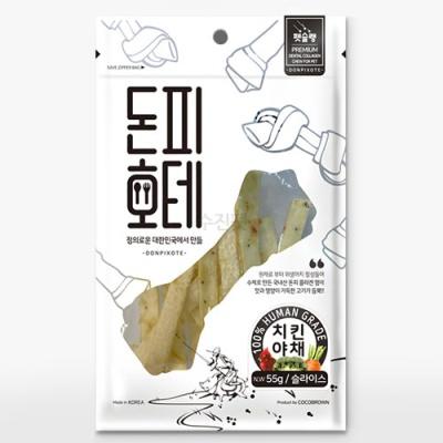 펫슐랭 돈피호테-치킨야채 슬라이스 55g X 2개 (sj)