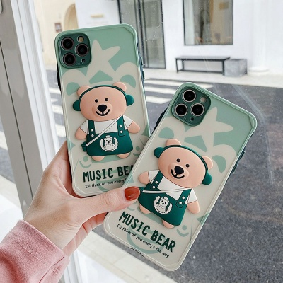 아이폰11 PRO MAX 귀여운 입체 곰돌이 캐릭터 케이스