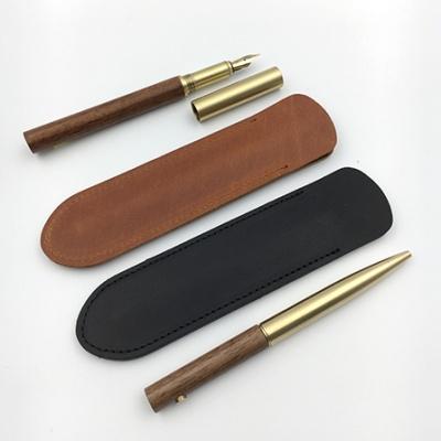 LOG Leather Pen Sleeve 천연가죽 펜슬리브