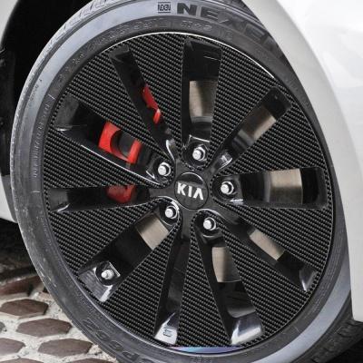 기아 K5 GDI 18인치 카본블랙 휠스티커/1세트