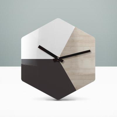 리플렉스 모던우드 헥사곤 무소음벽시계 HEX43A