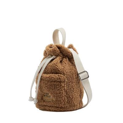 [로디스] 뽀글이 양털 버킷백 크로스백 브라운
