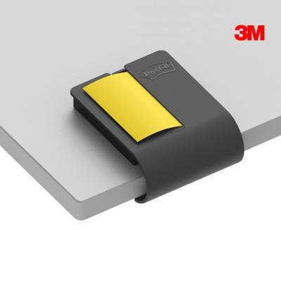 3M 포스트잇 강한점착용 클립 디스펜서 차콜
