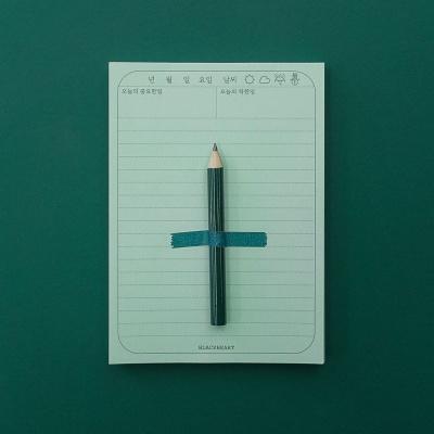 일기 메모지+미니연필