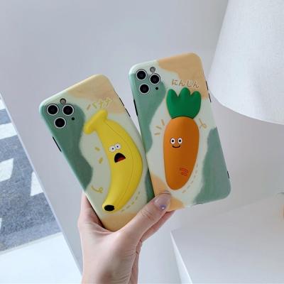 아이폰 카메라보호 입체 바나나 당근 실리콘 케이스