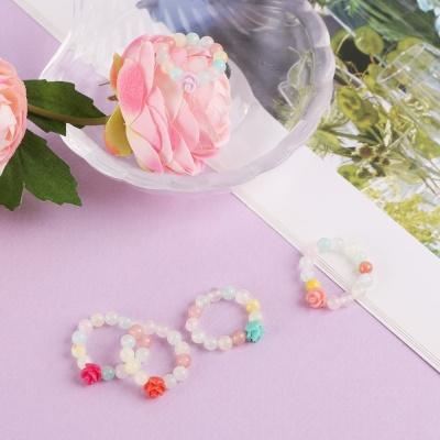 파스텔 비즈 반지 Dahlia 5color 장미 산호 원석반지