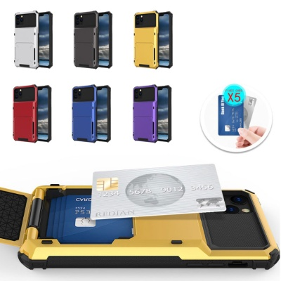 아이폰11 프로 맥스/폴더 카드수납 아머 하드 케이스