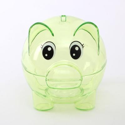 초록색 투명 돼지저금통