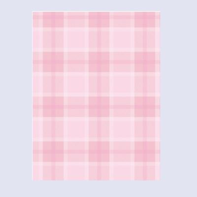 핑크 타탄체크 떡메모지