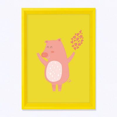 주폴라(Zoopola) 엘레니 옐로우/ 아이방 북유럽 그림 인테리어 액자
