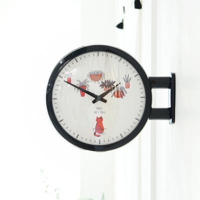 Morden Double Clock Cat(BK)