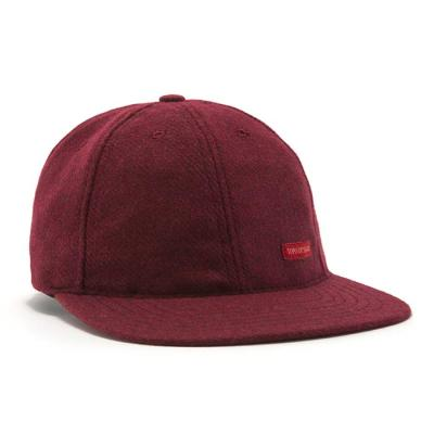 토포디자인 WOOL BALL CAP BURGUNDY TDBC015