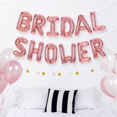 브라이덜샤워 은박풍선세트 BRIDAL SHOWER 로즈골드