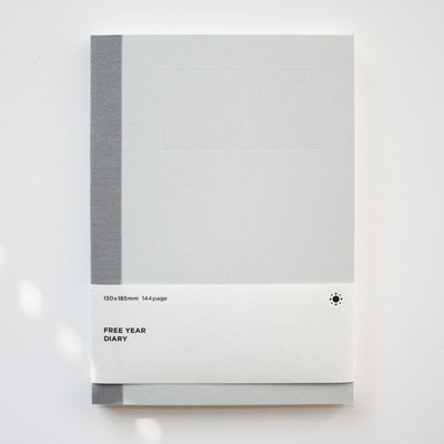 백상점 FREE YEAR DIARY_light gray (다이어리)