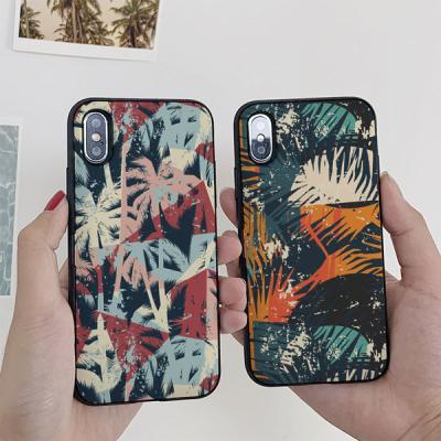 아이폰7플러스 노을지는숲 카드케이스