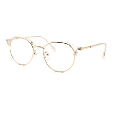 shine 투명 골드 반뿔테 안경 뿔테 패션안경 안경테