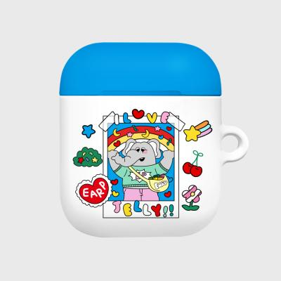 kkikki love jelly-white/blue(Hard air pods)
