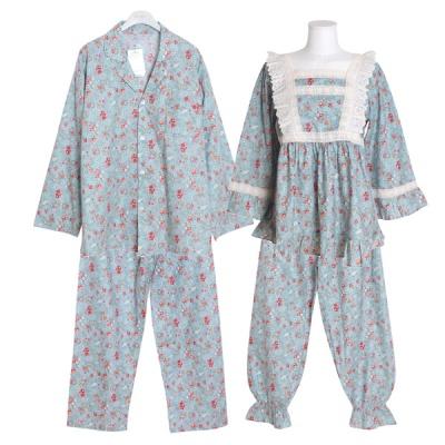 [쿠비카]플라워 스퀘어 레이스 투피스 커플잠옷 WM243