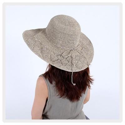 인기 챙넓은 여행 비치 햇빛 차단 바캉스 모자 그레이
