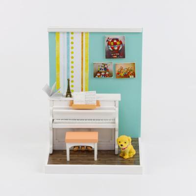 [adico]DIY 미니어처 룸 - 피아노 방