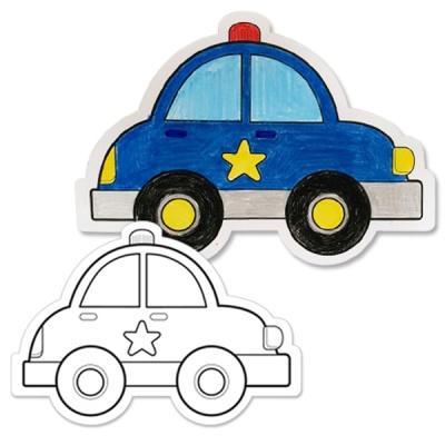[아티바바] 경찰차 색칠보드/색칠 공부 칼라링북