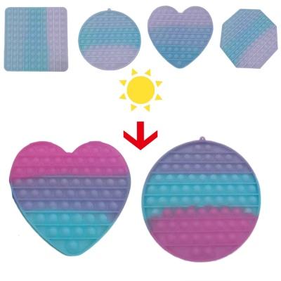 대형 20cm 색이 변하는 변색 푸쉬팝 팝잇 무한 뽁뽁이
