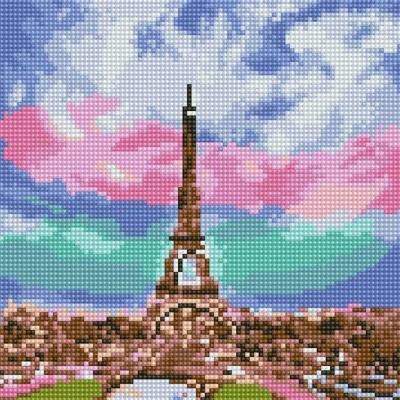 아름다운 에펠탑 (캔버스형) 보석십자수 25x25