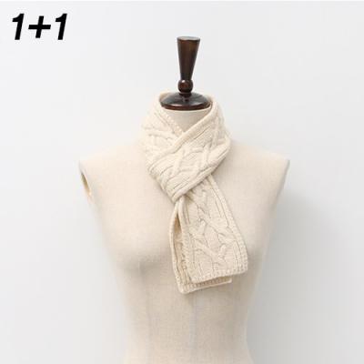 [1+1] Twist Mini Knit Muffler 2qty