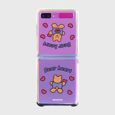 Love bear heart-pastel(Z플립-투명하드)