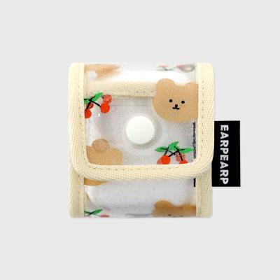 [8/14 예약발송]Dot cherry bear-ivory(PVC Air pods)