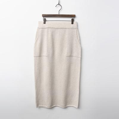 Cashmere N Wool Long Skirt
